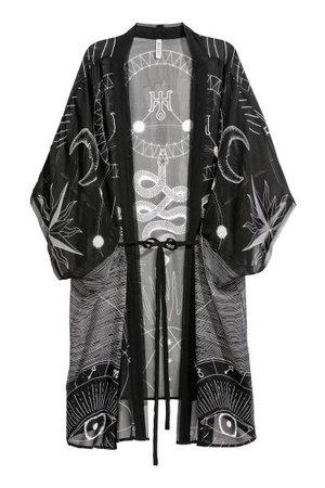 Kimono - Black/Patterned
