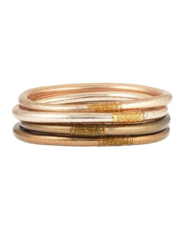 BuDhaGirl Fawn All-Weather Bangles, Size S-L | Neiman Marcus