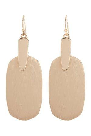 AREA STARS | Gold ID Drop Earrings | Nordstrom Rack