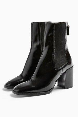 VERONA Vegan Black Patent Chelsea Boots | Topshop