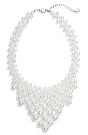 Knotty Imitation Pearl Necklace | Nordstrom