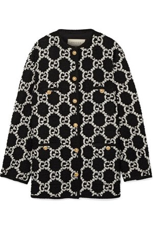 Gucci | Oversized cotton-blend bouclé-tweed jacket | NET-A-PORTER.COM