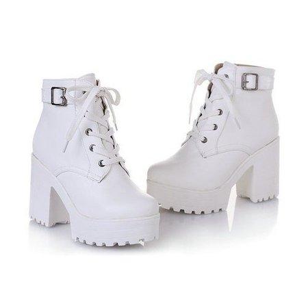Platform Boots White - SugarSweet.me