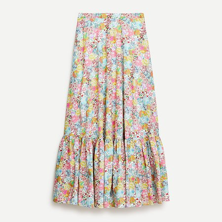 J.Crew: Tiered Maxi Skirt In Liberty® Patchwork Dream Floral For Women
