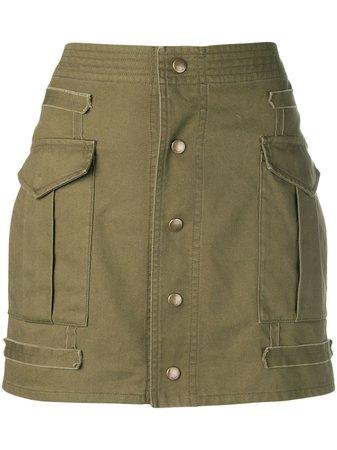 Saint Laurent button-down Mini Skirt - Farfetch