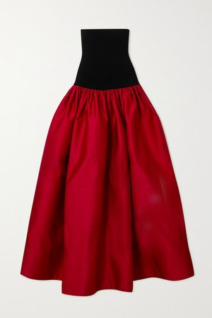 AZ Factory - Switchwear Recycled Duchesse-satin Maxi Skirt - Red