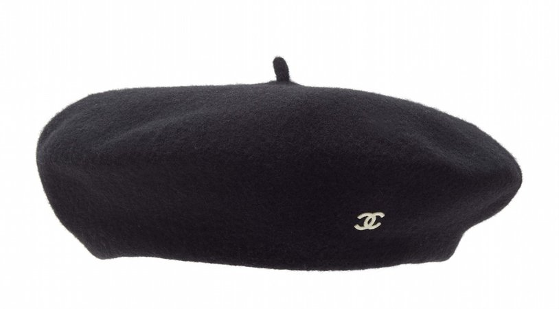 Chanel | embroidered CC logo beret