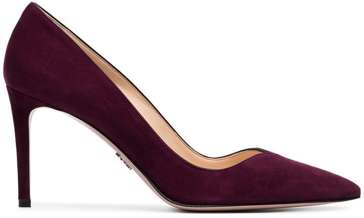 red court 85 suede leather pumps