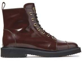 Hilary Glossed-leather Ankle Boots