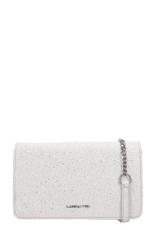 Lancaster Paris Silver Glitter Actual Shiny Bag