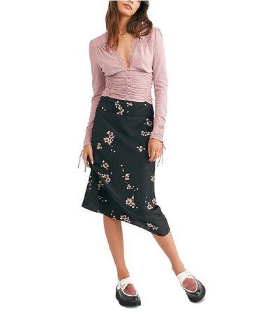 Free People Normani Bias-Printed Skirt & Reviews - Skirts - Juniors - Macy's