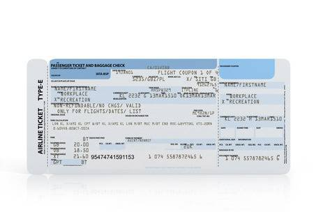 Boarding Pass Ticket Concept Both Sides Isolated Stock Photo, Picture And Royalty Free Image. Image 17403630.