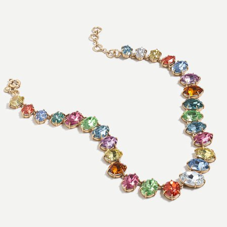 J.Crew: Hard Candy Gem Necklace For Women