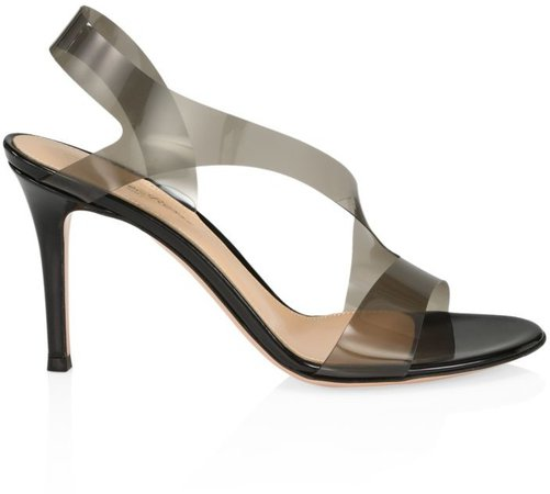 PVC & Leather Slingback Sandals