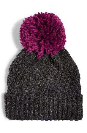 Topshop Chevron Knit Beanie Hat   Nordstrom