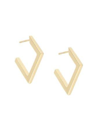 Nove25 Rhombus open-hoop Earrings - Farfetch