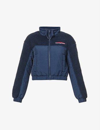 TOMMY JEANS - Branded high-neck fleece jacket | Selfridges.com