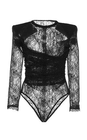 Stretch Lace Bodysuit by Dundas   Moda Operandi