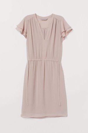 V-neck Dress - Pink