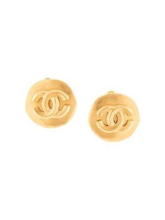 Chanel Pre-Owned Cc Logos Earrings ER96P Gold | Farfetch