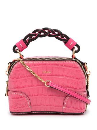 Shop Chloé mini Daria crossbody bag with Express Delivery - FARFETCH