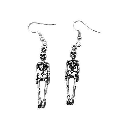 Amazon.com: Art Attack Halloween Skeleton Earrings Skull & Bones Holloween Costume Goth: Jewelry