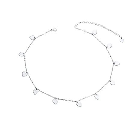 Amazon.com: Sterling Silver Jewelry Lucky Star Choker Necklace Pendant Disc Chain Statement Necklace For Women Girls: Clothing