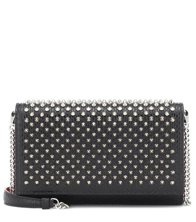 Christian Louboutin - Paloma Small studded leather clutch | Mytheresa