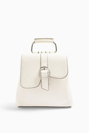 POLLY White Buckle Backpack | Topshop