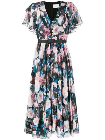 Erdem Floral Print Flared Dress - Farfetch