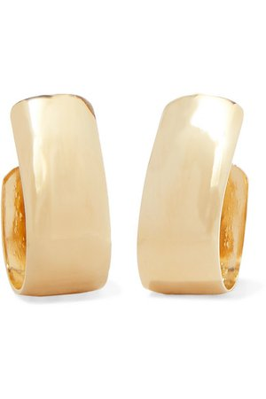 Jennifer Fisher | Small Bolden gold-plated hoop earrings | NET-A-PORTER.COM