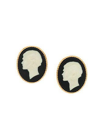 Chanel Vintage Huge Cameo Portrait Earrings - Farfetch