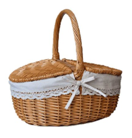 picnic basket with linen lining