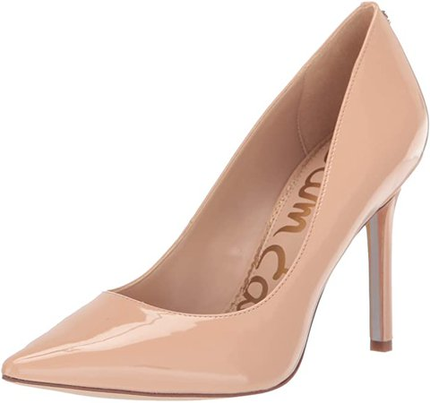 Amazon.com | Sam Edelman Women's Hazel Pump, Nude Blush Patent, 5 Medium US | Pumps