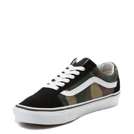 Vans Old Skool Skate Shoe - Black / Camo | Journeys