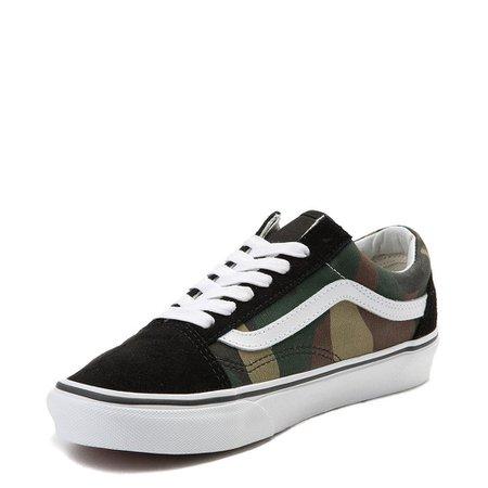Vans Old Skool Skate Shoe - Black / Camo | Journeys
