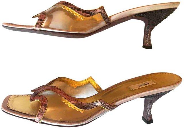 Purple Leather Sandals