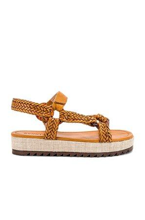 Schutz Jennie Platform Sandal in Inca Gold   REVOLVE