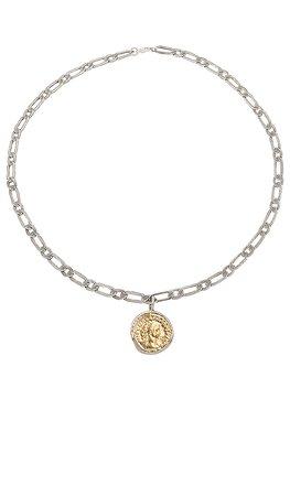 Child of Wild Aurelian Coin Necklace in Silver & Gold | REVOLVE