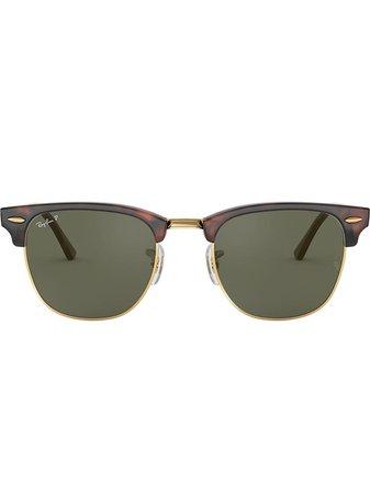 Ray-Ban Clubmaster Square-Frame Sunglasses Ss20 | Farfetch.com