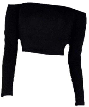 off shoulder shirt black