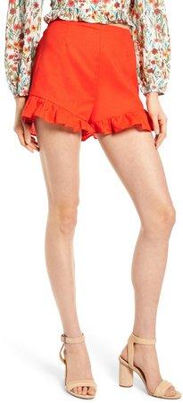 Papaya Ruffle Shorts