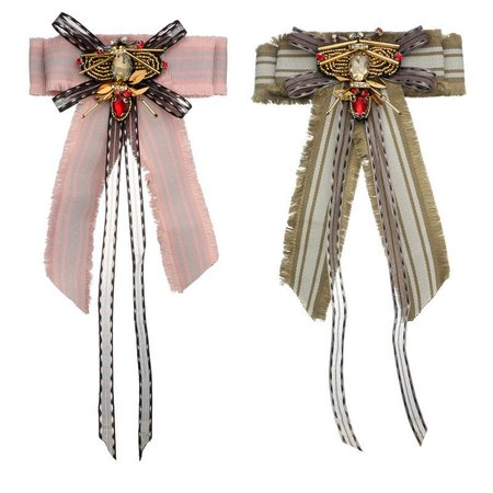 Bohemia's new bee lace bow tie brooch, European and American multi fashions women's Fashion Brooch