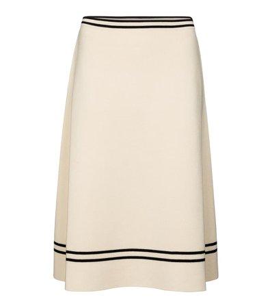 Gucci - Wool midi skirt | Mytheresa