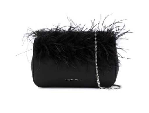 Feather Embellished Clutch Bag