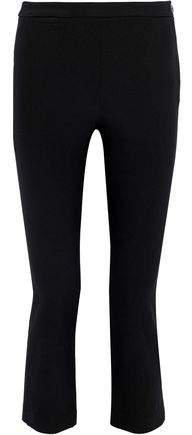 Cropped Cotton-blend Crepe Straight-leg Pants