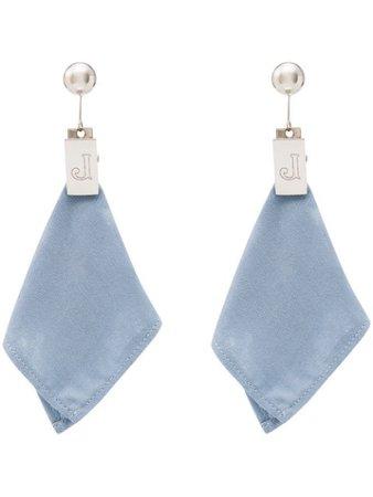 Jacquemus napkin drop earrings blue 193JW0919333350 - Farfetch