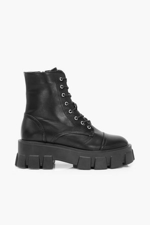 Chunky Cleated Hiker Boots | Boohoo
