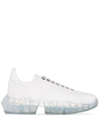 Jimmy Choo Diamond patent-leather Sneakers - Farfetch