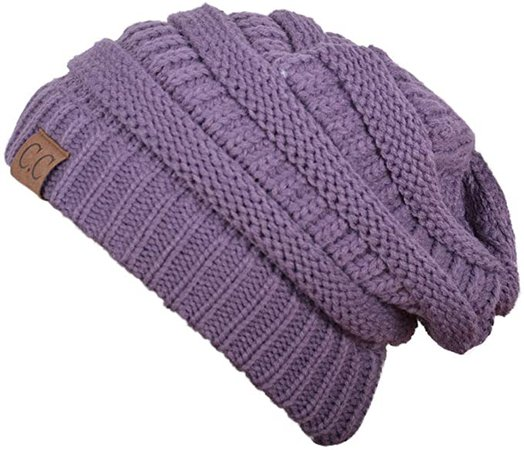 Slouchy Beanie for Men Winter Hats for Women Violet at Amazon Men's Clothing store